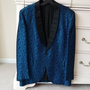 Unknown Jackets & Coats - Vintage Brocade Tuxedo Smoking Jacket